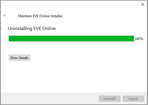 uninstall eve